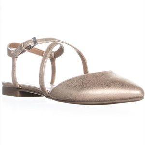Ankle strap ballet flap